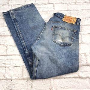 Levis men's 501 Original Straight Leg Button Fly (